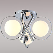 Modern Semi Flush Mount with 3 Lights