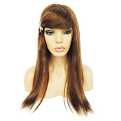 Full Lace with Stretch on Crown Long Silky Straight Indian Remy Hair Wig