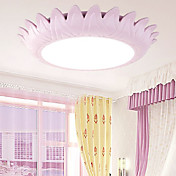 Ceiling Light in Flower Shaped Shade Pink