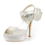 Satin Stiletto Heel Platform / Sandals With Flower Wedding Shoes (More Colors Available)