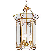 Golden Classic Pendant Light with 3 Lights