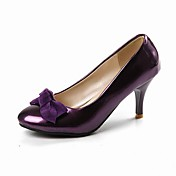 Patent Leather Stiletto Pumps With Bow (More Colors)