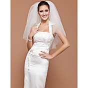 One-tier Tulle Elbow Wedding Veil With Cut Edge (More Colors Available)