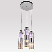 Modern Pendant Light with 3 Lights Cylinder Design