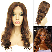 Full Lace with Stretch on Crown Long Wavy Indian Remy Hair Wig