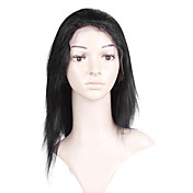 Glue-Less Hand-tied Lace Front Silky Straight 10 Inch Indian Remy Hair Wig