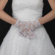 guanti da sposa in pizzo polso lunghezza (pi colori disponibili)