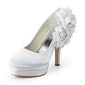 YOKO - Plattform-Schuhe Hochzeit Pfennigabsatz Satin