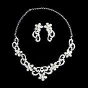 Mysterious Two Piece Ladies Necklace and Earrings Jewelry Set (50 cm)