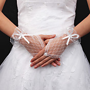 Lace Bridal Fingerless Wrist Length Gloves (More Colors Available)