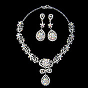 conjunto lindo rhinestone ladies 'jias, incluindo colar e brincos