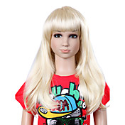 Top Grade Synthetic Long Sweat Straight Blonde Children's Wig