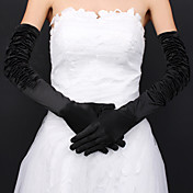Satin Bridal Fingertips Opera Length Gloves (More Colors Available)