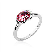Austria Crystal Ring In Platinum-plated Alloy - The Sun Moon Lake (More Colors)