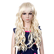 Top Grade Synthetic Long Sweat Curly Blonde Children's Wig