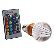E27 5W RGB Light Golden Shell Remote Controlled LED Crystal Ball Bulb (85-265V)