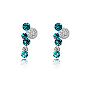 Joy Minnie Austrian Crystal In Real Platinum Plated Ladies' Earrings (More Colors)