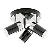 Artistic metal Flush Mount Spot Lights with 3 Lights Chrome Finish
