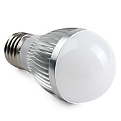 E27 6W 540-600LM 6000-6500K Natural White Light LED Ball Bulb (220V)