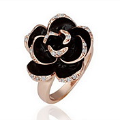 Gorgeous Cubic Zirconia 18K Gold Plate Rose Fashion Ring