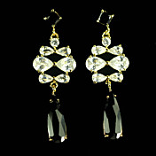 Black And White Cubic Zirconia Earrings In Simply Style