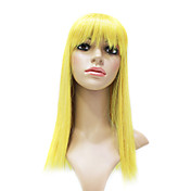 Capless High Quality Synthetic Fashion Golden Blonde Long Straight Party Wig
