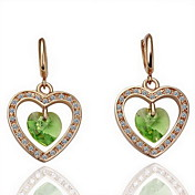 Gorgeous Green Crystal Alloy Earrings