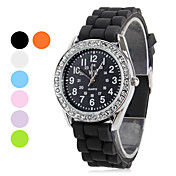 Women's Silicone Analog Quartz Wrist Watch (Assorted Colors)