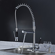 Sprinkle by Lightinthebox - Solid Brass Spring Kitchen Faucet with Two Spouts (Chrome Finish)