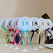 Cute Round Shape Table Number Cards With Holders - Set Of 10(More Colors)