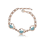 Fabulous Alloy With Crystal Women's Bracelet (More Colors)