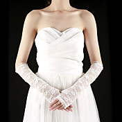 Gorgeous Lace Half Finger Elbow Length With Embroidery Bridal Gloves (More Colors)