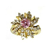 Beautiful Alloy Multicolor Cubic Zirconia Fashion Ring(More Colors)