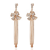 18K Gold Plated Delicate Clear Rhinestone Fashion Earrings