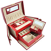 kleiner Schmetterling Elefantenhautbildung Kunstleder ladies'jewelry Box (weitere Farben)