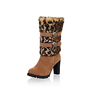 Beautiful Suede Chunky Heel Mid-Calf Boots With Buckle Party/Evening Shoes (More Colors)