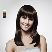 Lace Front 100% Human Hair Shoulder-length  Bob Style Hair Wig 5 Colors To Choose