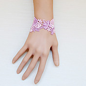 Handmade Pink Rose and Vine Lace Sweet Lolita Bracelet