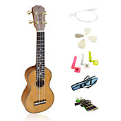 Yadars - (YS-MH21) High-Grade Solid Mahogany Soprano Ukulele with Gig Bag/String/Picks/Capo