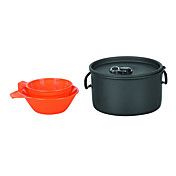 1-2  Camping Cookset (1L Pot, 200 Bowl, 175  Cup)