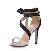 Satin Stiletto Sandalen / Pumps mit bowknot