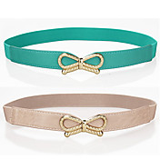 Trendy Bowknot Decoration Skiny Belt