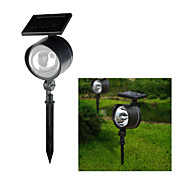 Solar Powered 4-LED White Light Rechargeable Plastic Garden Spotlight