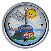 Camping Kids Pattern Analog Wall Clock (1xAA)