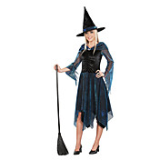 Voksen Dame Hologram Witch Halloween kostume