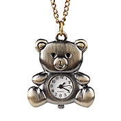 Lovely Alloy Bear Design Necklace Watch