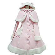 Bunny Girl Long Sleeve Pink Velvet Sweet Lolita Coat