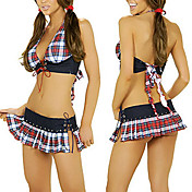 Costume Halter Plaid donne sexy (2 Pezzi)