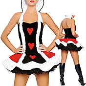 Sexy Queen of Hearts Dress Halloween  Costume(2Pieces)