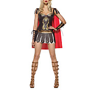 Greek Warrior Princess Dress Up Halloween Sexy Adult Halloween Costume(3Pieces)